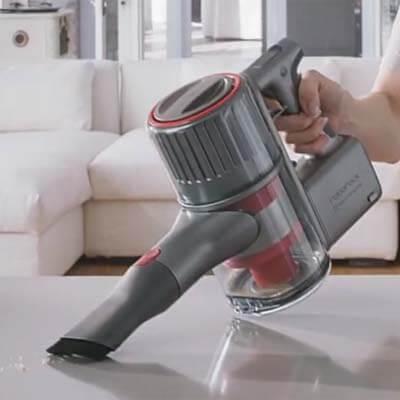 Utilizando la H6 como aspiradora de mano