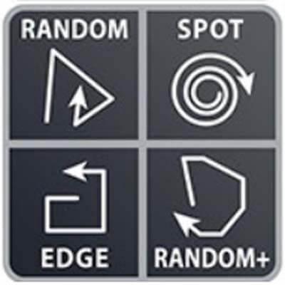 4 modos de limpieza: Random, Random +, Spot y Edge