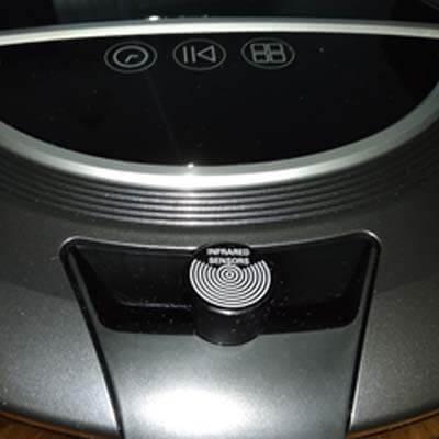 Detalle del sensor de infrarrojos
