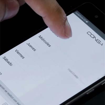Conga Serie 1390 programable desde la app