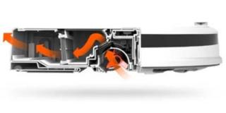 Roborock E25 flujo de aire
