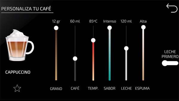 Power Matic-ccino 9000 personalización del café