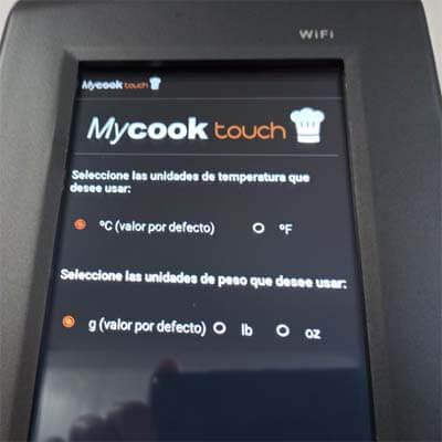 Configurando la Taurus Mycook Touch