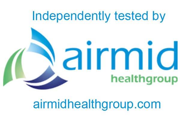 Test independiente de limpieza del aire Airmid Healthgroup