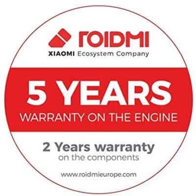 Roidmi garantía motor 5 años